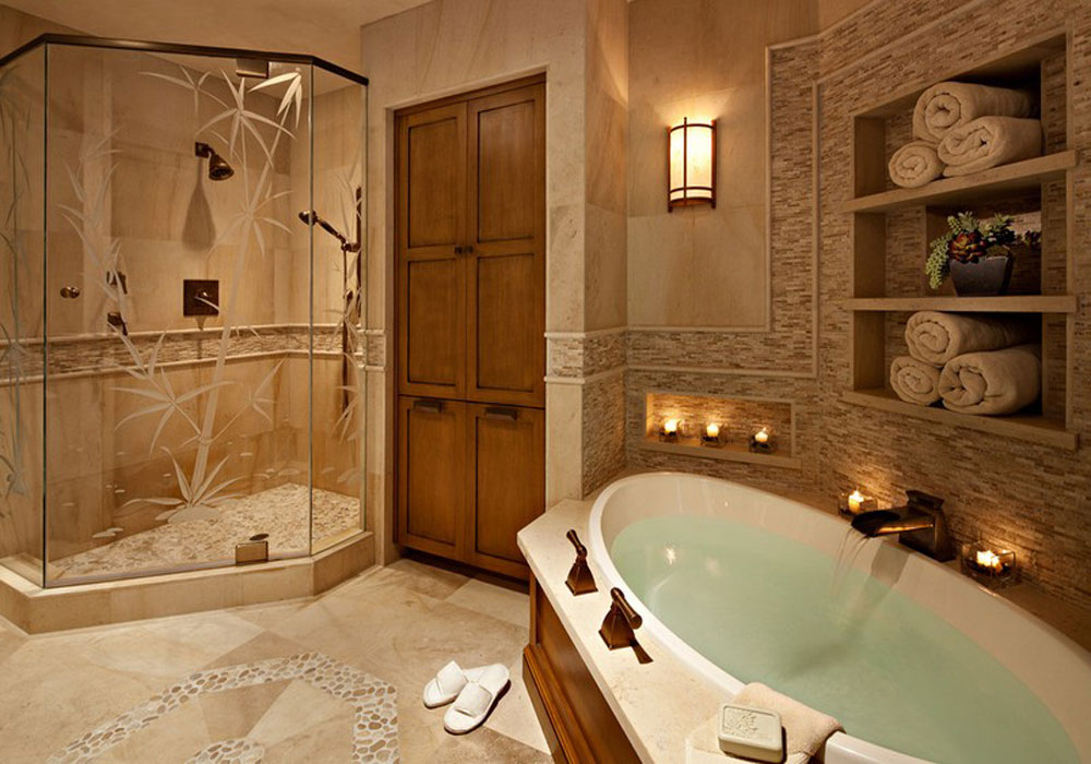 дизайн интерьера в ванной комнате в фото #11