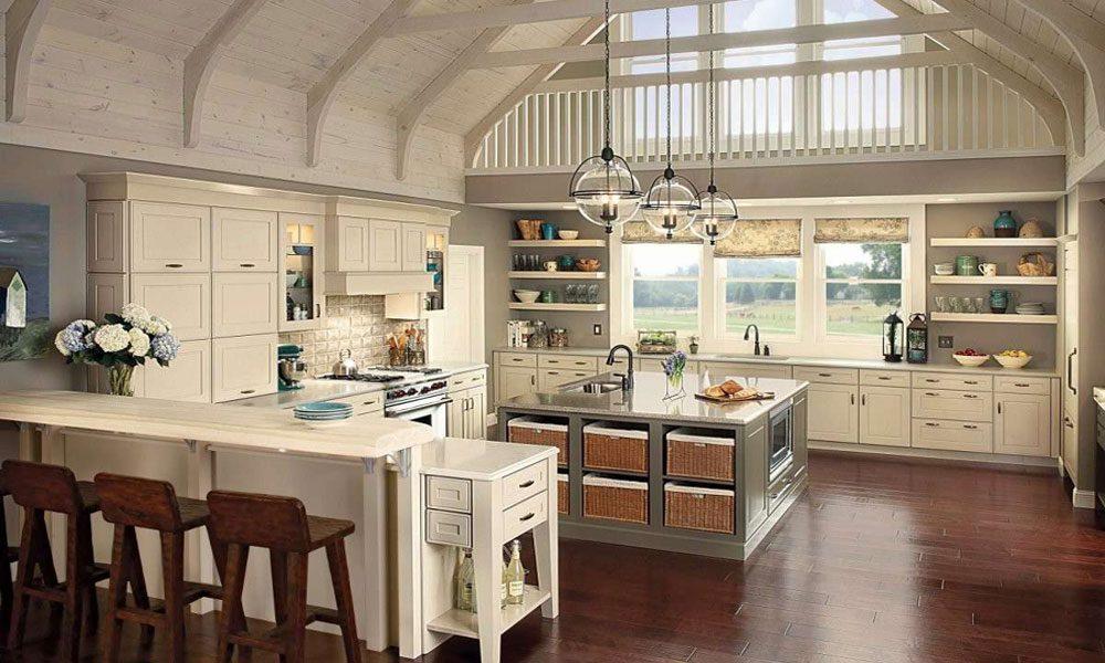 yüksek tavan mutfak dekoru