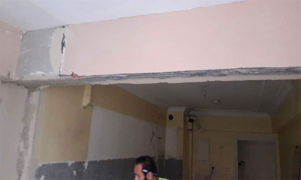 Gergi tavan - Tadilata ilk başladığımız günler.